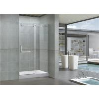 Buy cheap 8MM Self - Cleaning Frameless Glass Shower Doors With Stainless Steel Accessories from wholesalers