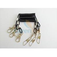 Buy cheap Flexible Short 52MM Black Tool Tether Lanyard With Fishing Swivel Pin & Hook product