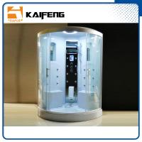 Buy cheap Residential Steam Shower Tub Combo With White ABS Back Wall 2 Mirrors from wholesalers