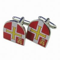 Buy cheap Metal Cuff Links with Buckle Accessory, Made of Brass from wholesalers