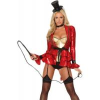 China Uniform Costume Wholesale Sexy Ring Master Costume in Red by Spandex with Size from XXS to XXXL Available for Halloween on sale