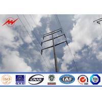 Buy cheap Tapered Galvanized metal utility poles For Electrical Line Project from wholesalers