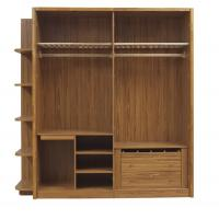 Buy cheap Open doors cloth armoire by wood panel with Sock and tie tray inside drawer chest in metal sliding rail outside racks from wholesalers