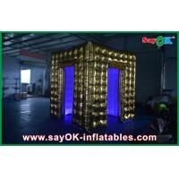 Buy cheap Square Gold Sticker Inflatable Photo Booth Kisosk Cabinet Rental from wholesalers