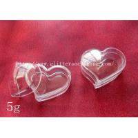 Buy cheap 5g fashional heart plastic empty clear jar nail art tool cosmetics container product