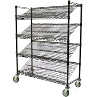 Buy cheap Lab Use Air and Light Circulates Custom Cut Chrome Wire Storage Shelves 4 Tier from wholesalers