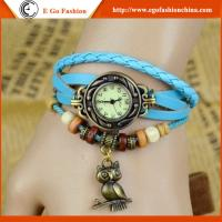 Buy cheap Owl Bird Pendant Watch Vintage Bracelet Watch Genuine Leather Watch Strap Quartz Watches from wholesalers