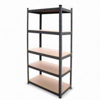 Buy cheap 5-shelf Steel Shelving with Particle MDF Board and 265kg/Layer Capacity product