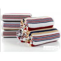 Buy cheap Jacquard Striped Terry Customized Cotton Bath Towels 60*120cm AZO Free from wholesalers