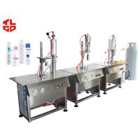 Buy cheap Aerosol Body Spray Filling Machine Semi Automatic For Plastic Bottle / Glass Bottle from wholesalers