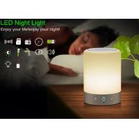 Buy cheap Portable LED alarm clock bluetooth speaker FM Radio rechargeable light  night sleep table lamp LX118 from wholesalers