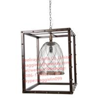 Buy cheap YL-L1039  American Creative antique shabby chic Industrial  Metal Globe Frame Chandelier from wholesalers