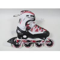 Buy cheap Semi-Soft Youth / Boy / Girls Adjustable Roller Skates Shoes Outoor Speed Skating Equipment from wholesalers