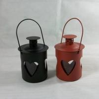 Buy cheap Drilled Red&black - Wax Hurricane Candle Holder Lantern Luminary from wholesalers