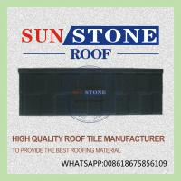 Buy cheap ISO, SONCAP,CE, SGS certified stone coated metal roof tile Shingle 1335mm*430mm from wholesalers