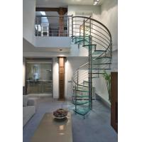 Buy cheap Easy Installation Modern Style Indoor Glass Spiral Stairs Price from wholesalers