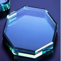 Buy cheap clear octagon Jade glass paperweight from wholesalers