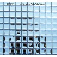 Buy cheap MD07 Blue Polished Square Beveled Mirror Glass Mosaic, Diamond Glass Tile product