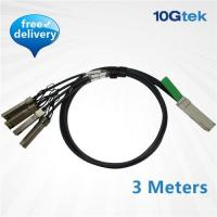 Buy cheap QSFP+ to 4 SFP+ Copper Breakout Cable 3m, Passive (QSFP-4SFP10G-CU3M ) from wholesalers