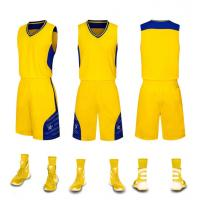 Buy cheap Custom Design Logo Latest Best Unique Design Custom Logo USA Men Basketball Jersey  color: green,&yellow from wholesalers