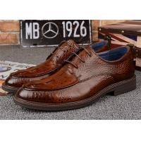 Buy cheap Durable Dark Brown Derby Classic Dress Shoes For Mens Suits OEM Available from wholesalers