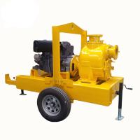Buy cheap electric motor powered self priming trash pump Diesel Engine Driven Septic Tank Pump With Trailer Mounted from wholesalers