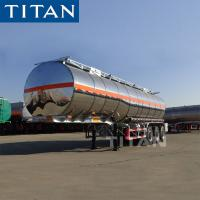 Buy cheap TITAN 3 axles stainless aluminum steel fuel tanks trailer for sale from wholesalers