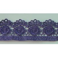 Buy cheap Purple flower water soluble lace design from wholesalers
