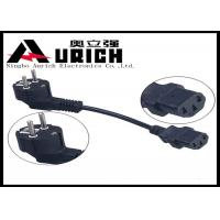 Buy cheap Customized IEC Plug Home Appliance Power Cord , Two Pin VDE AC Power Cord from wholesalers