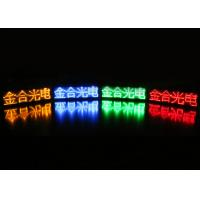 China Mini LED Flashing Name Badge USB Rechargeable Smart Name Tags With Magnetic Clip on sale