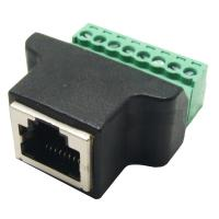 Buy cheap RJ45 Female Jack 8P8C to 8 Pin Screw Terminal Block Adapter for CCTV Vedio Solution from wholesalers