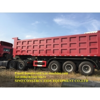 Buy cheap 3 Axle 40 Cubic Meter Semi Trailer Dump With Tractor Truck from wholesalers