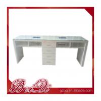 Buy cheap Modern manicure table vacuum and nail salon furniture cheap nail table white color from wholesalers