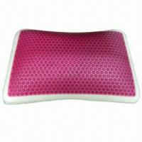 Buy cheap Gel Pillow/Red Circle Gel Top Layer Memory Foam Pillow from wholesalers
