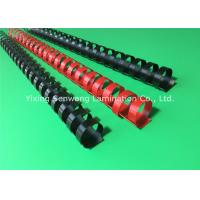 Buy cheap Black / Red Plastic Binding Combs 20mm Punched Into Papers Rectangular Holes from wholesalers