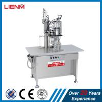 Buy cheap Semi automatic air fresher, paint, snow, pu foam, body spray Aerosol Filling and Sealing Machine from wholesalers