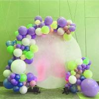 Buy cheap Custom Print Acrylic Plate Display Stands Backdrop Decoration Wedding Round White product