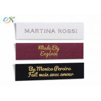 Buy cheap Multicolor Logo Garment Woven Tag , Polyester Custom Clothing Tags from wholesalers