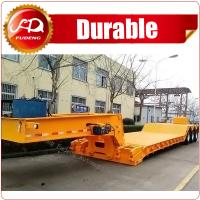 Buy cheap front loading 120Tons 4 axles flatbed semi-trailer with detachable gooseneck from wholesalers