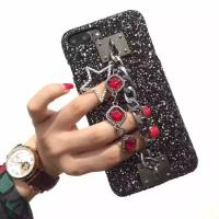 Buy cheap Black Noble Flash Metal Buckle Gemstone Chain Star Strap Cell Phone Case Cover for iPhone 7 6s Plus from wholesalers