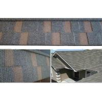 China Durability Flat Grid Colorful Metal / Steel Roofing Tile Asphalt Roof Shingles on sale