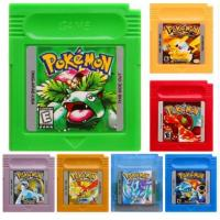 Buy cheap Wholesale Game Boy Color Game Pokemon GBC Game Pokemon Yellow Red Blue Silver Gold Green Crystal In English Mix Order Fr from wholesalers