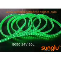 Buy cheap DC24V 5050  PVC LED Tunnel Lights  Outdoor LED Rope Lights 10MM Green / Pink /White from wholesalers