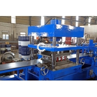 Buy cheap 3 Waves Hydraulic Punching Cutting 2mm Guardrail Roll Forming Machine from wholesalers