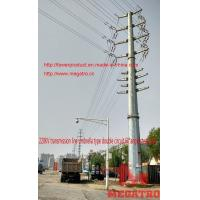 Buy cheap 220KV transmission line umbrella type double circuit 60°angle thin wall concrete steel pol from wholesalers
