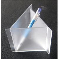 Buy cheap Frosted Engraved Triangle Acrylic Pen Holder With Different Size For Desk from wholesalers