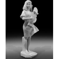 China Indoor art exhibition marble sculptures beautiful girl stone statue,stone carving supplier on sale
