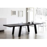Buy cheap Solid Wooden Minimo Modern Dining Room Tables Rectangle Black Colors from wholesalers
