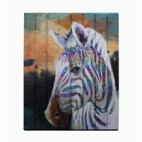Buy cheap Creative Ribbon Modern Art Painting , Zebra Rainbow Color Wall Art Painting from wholesalers