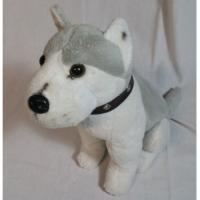 Buy cheap Small Husky Dog Stuffed Animal Soft Toys With Laika Grommet Collar Sit from wholesalers